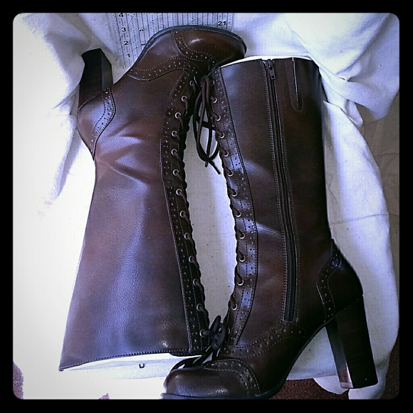 Mudd Lace Up Victorian Boots | Poshmark